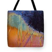 Rust Abstract With Curved Line Tote Bag