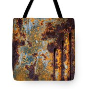 Rust Abstract Car Part Tote Bag