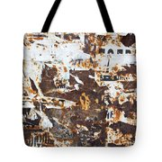 Rust And Torn Paper Posters Tote Bag