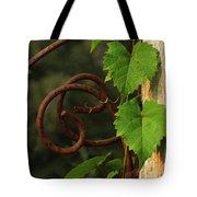 Rust Vine Tote Bag