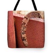 Rusted Horseshoe Tote Bag