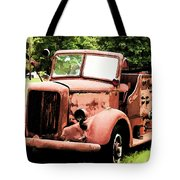 Rusted Mack Fire Engine Tote Bag