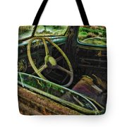 Rusted Truck Window Tote Bag