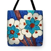 Rustem Pasha Mosque Flower Tile Tote Bag