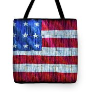 Rustic American Flag Tote Bag