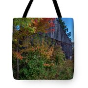 Rustic Barn Above The Fall Colors Tote Bag