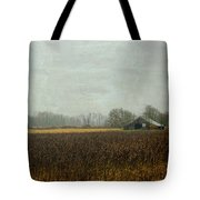 Rustic Barn On A Rainy Day Tote Bag
