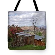 Rustic Cabins On A Hillside Tote Bag by Patricia Strand