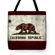 Rustic California State Flag Design Tote Bag