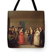Rustic Dance After A Sleigh Ride Tote Bag