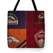 Rustic Denver Sports Teams Tote Bag