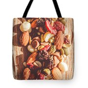 Rustic Dried Fruit And Nut Mix Tote Bag