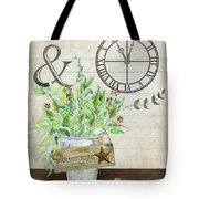 Rustic Farmhouse Our Happy Place Tote Bag