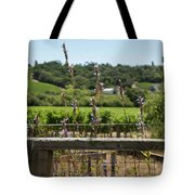 Rustic Fence In Wine Country Tote Bag
