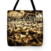 Rustic Mountain Bikes Tote Bag