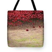 Rustic Poppy Garden Tote Bag