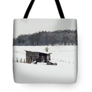 Rustic Shed In The Winter Tote Bag