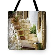Rustic Steps In Crete Tote Bag