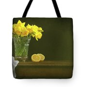 Rustic Still Life With Daffodils Tote Bag