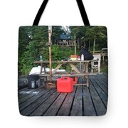 Rustic Summer Dock Tote Bag