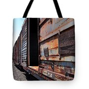 Rustic Train Tote Bag