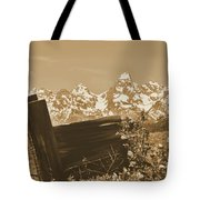 Rustic View Of Grand Teton Tote Bag