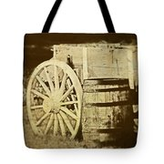 Rustic Wagon And Barrel Tote Bag