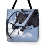 Rustic Wheel In The Snow#2 Tote Bag