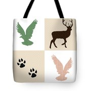 Rustic Wildlife Pattern Tote Bag
