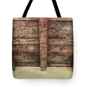 Rustic Wood Beams Tote Bag