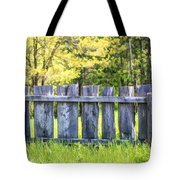 Rustic Wooden Fence At Old World Wisconsin Tote Bag