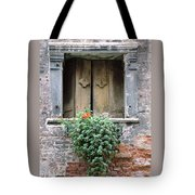Rustic Wooden Window Shutters Tote Bag