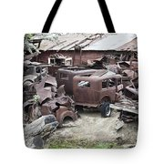 Rusting Antique Cars Tote Bag