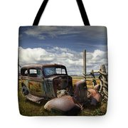 Rusty Auto Wreck Out West Tote Bag