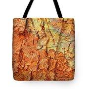 Rusty Bark Abstract Tote Bag