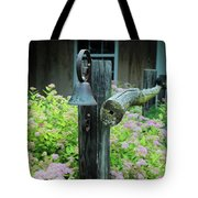 Rusty Bell On Weathered Fence Tote Bag