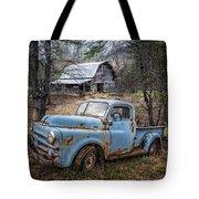 Rusty Blue Dodge Tote Bag