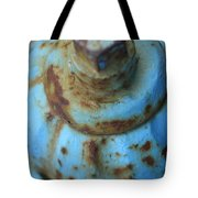 Rusty Blue Fire Hydrant Tote Bag