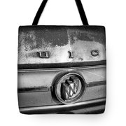 Rusty Buick Emblem Black And White Tote Bag