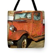 Rusty Chevrolet Pickup Truck 1934 Tote Bag