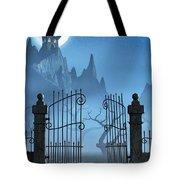 Rusty Gate And A Spooky Dark Castle Tote Bag