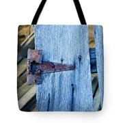 Rusty Hinge In The Blue Of The Evening Tote Bag
