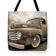 Rusty Jewel In Sepia - 1948 Ford Tote Bag
