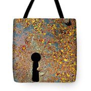 Rusty Key-hole Tote Bag by Carlos Caetano