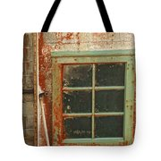 Rusty Lighthouse Window Tote Bag