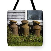 Rusty Milk Cans Tote Bag