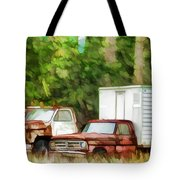 Rusty Old Abandoned Truck 1 Tote Bag