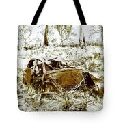 Rusty Old Holden Car Wreck  Tote Bag