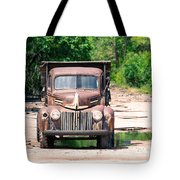 Rusty Old Truck Tote Bag