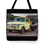 Rusty Old Work Truck Tote Bag